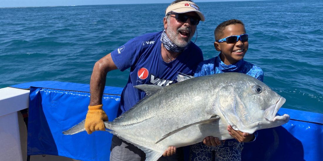 Liveaboard Fishing Charters Airlie Beach fishing Charters giant trevally