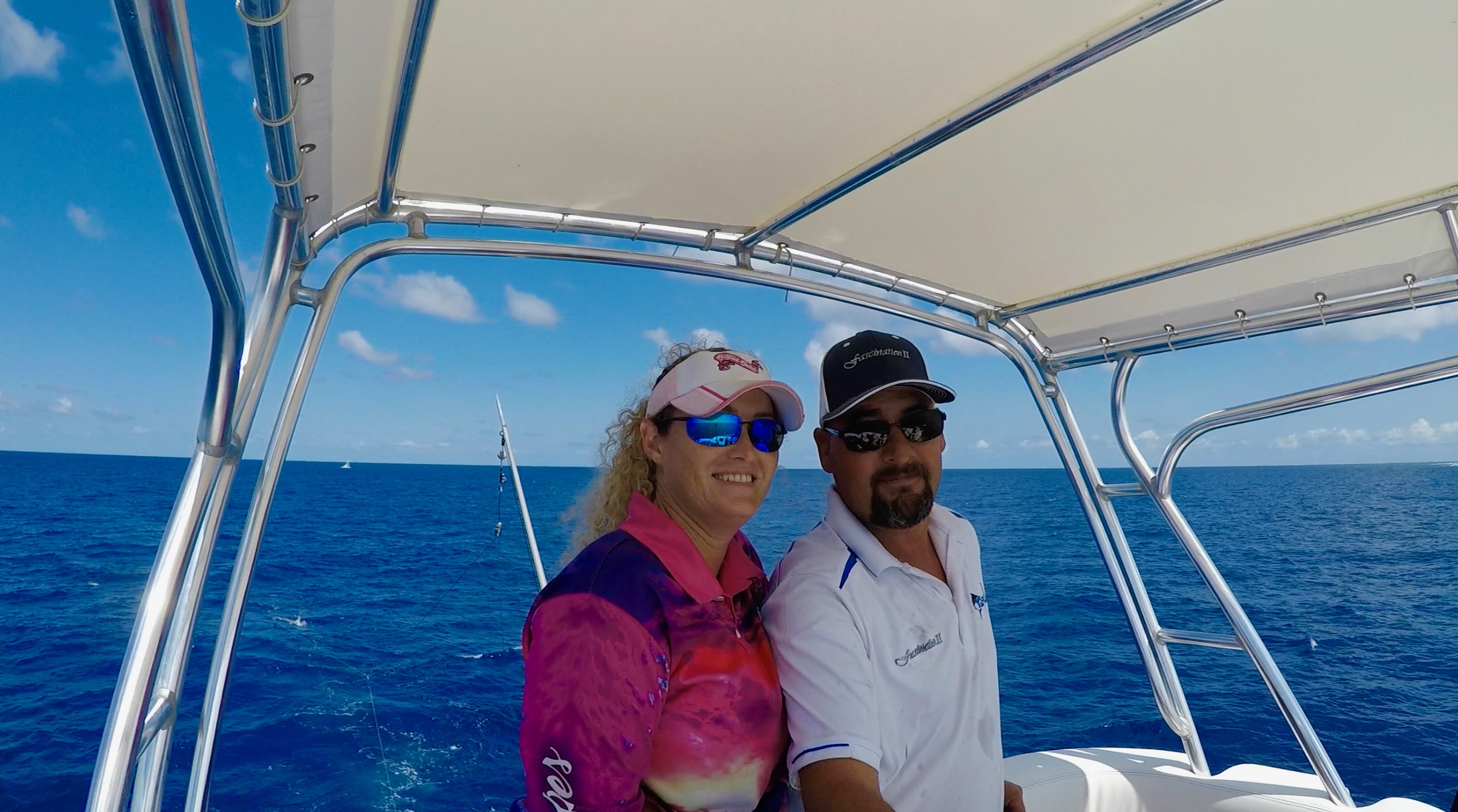 Captain Russell Hicks and Billfish Babe Marlene Hicks Topnotch Game Fishing Airlie Beach